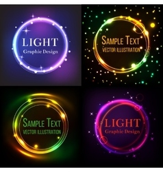 Shining circle background set vector image vector image