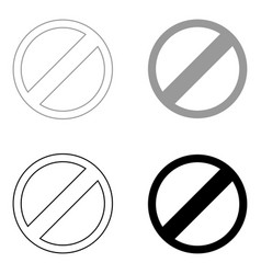 sign entry prohibited the black and grey color vector image vector image