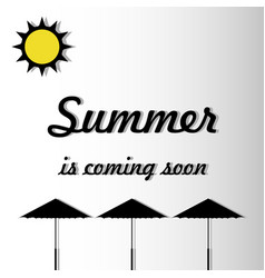 the inscription soon summer against the background vector image
