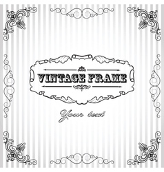 Vintage striped background vector