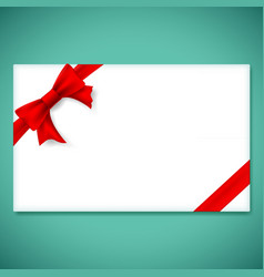 White gift card vector