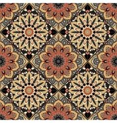 Flower pattern boho brown vector