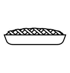 Delicious sweet pie icon vector