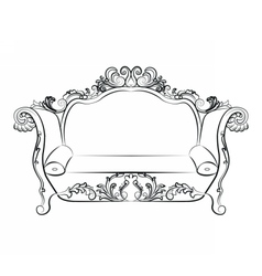 Baroque imperial luxury style furniture vector
