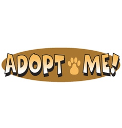 Adopt me vector image