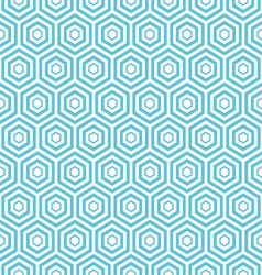 Seamless hexagon pattern background vector