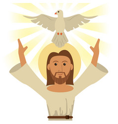 Jesus christ holy spirit religious symbol vector
