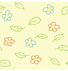 Seamless pattern of childish picture vector