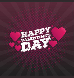Happy valentines day vintage hand drawing vector