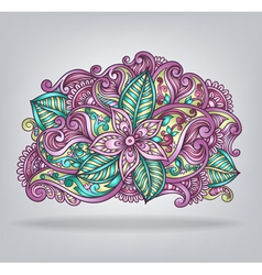 Decorative flower composition vector