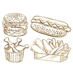 American food set vector