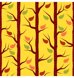 Fall trees with colorful leaves vector image
