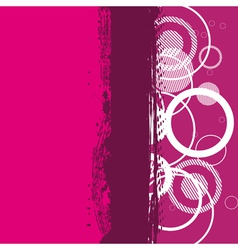 Abstract grunge pink banner vector