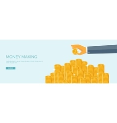 Ector  flat header money and money vector