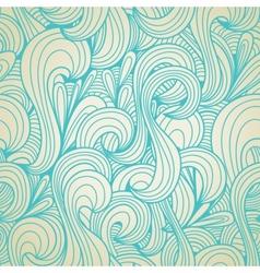 retro swirls seamless wallpaper vector image