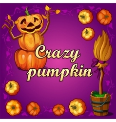 Crazy pumpkin and other witchcraft vector