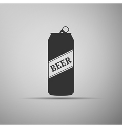 Beer can icon vector