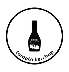 Tomato ketchup icon vector
