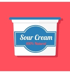 A jar with sour cream vector
