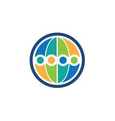 abstract circle business logo vector image vector image