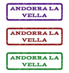 Andorra la vella watermark stamp vector