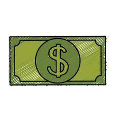 Bill dollar money isolated icon vector