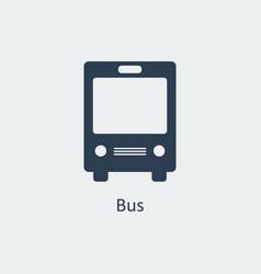bus icon silhouette icon vector image