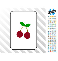 cherry card with bonus vector image