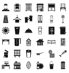 Cleaning service icons set simple style vector