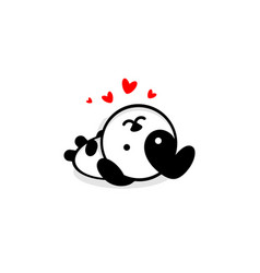 cute dog in love and rest vector image