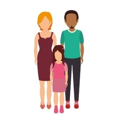 Cute family characters icon vector