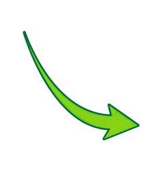 declining arrow sign lemon scribble icon vector image vector image