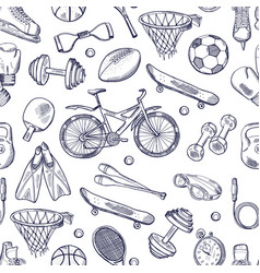 Doodles hand drawn seamless pattern of vector