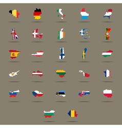 European union country flags set vector