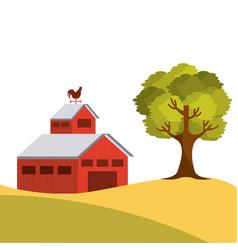 Farm barn design vector