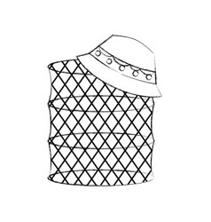 Fish trap isolated icon vector