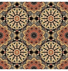 Flower pattern boho brown vector