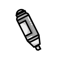 grayscale highlighter pen design to important vector image vector image