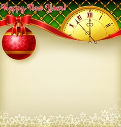 Happy New Year redball vector image vector image