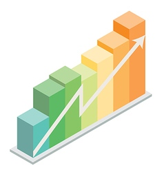 Isometric column graph vector