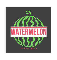 logo template with side view of stylized striped vector image