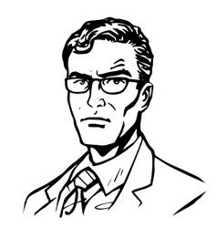 Man businessman online art vector image vector image