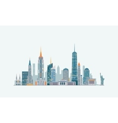 New York abstract skyline vector image vector image