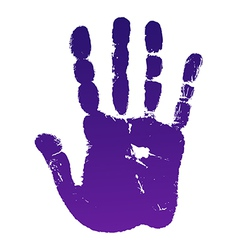 Old man right hand print vector