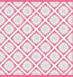 oriental seamless geometric fabric pattern vector image vector image