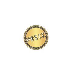 Price computer symbol vector