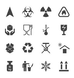 Products info for transportation icon set vector