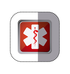 Red emblem star medicine sign vector