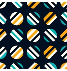 Retro seamless pattern on dark background vector image