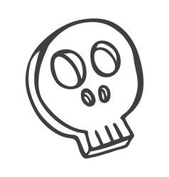 skull doodle vector image vector image
